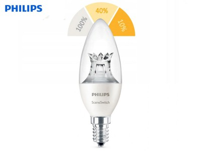 E14 LED žarnica Philips SceneSwitch 5.5W