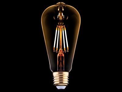 E27 LED žarnica z žarilno nitko 4W