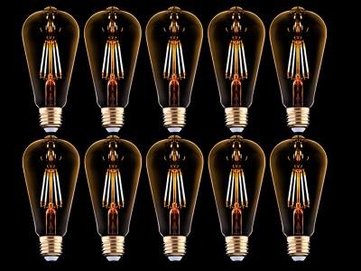 10x E27 LED žarnica z žarilno nitko 4W