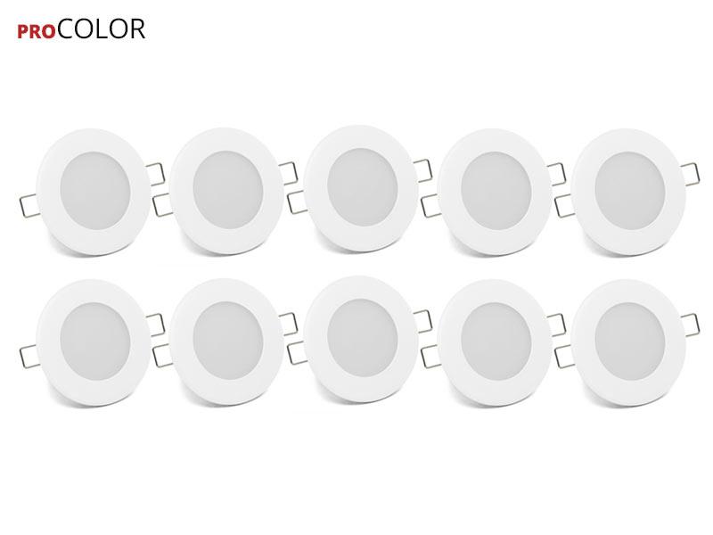 10x Vgradni LED panel ProCOLOR 6W