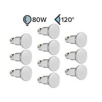 Paket 10x E27 LED žarnica R63 9W