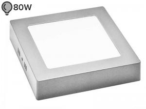 LED svetilka SLIM OGLATA SREBRNA 12W ECONOMY (1 leto garancije)