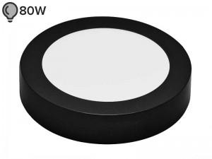 LED svetilka SLIM OKROGLA ČRNA 12W ECONOMY (1 leto garancije)