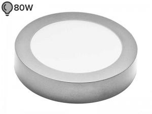 LED svetilka SLIM OKROGLA SREBRNA 12W ECONOMY (1 leto garancije)