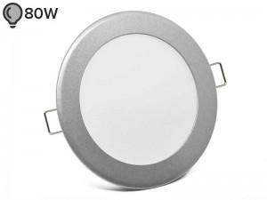 Vgradna LED svetilka SLIM OKROGLA SREBRNA 12W - ECONOMY (1 leto garancije)