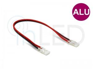 Konektor za LED trakove - DVOJNI s KABLOM 13cm - za ALU profile