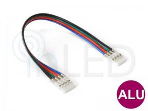 Konektor za RGB LED trakove - DVOJNI s KABLOM 13cm - za ALU profile