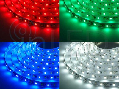 XtraLONG LED trak RGB+W, 60LED/m, HLADNA BELA