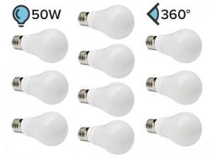 Paket 10x E27 LED žarnica A60 7W 360°