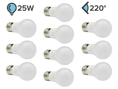 Paket 10x E27 LED žarnica A50 3W