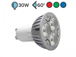 GU10 LED žarnica SPOT 3W BARVNA